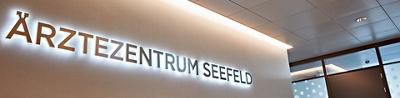 Beschrifutng Ärztezentrum Seefeld