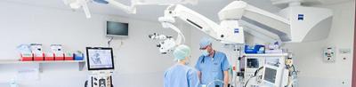 Salle de chirurgie ophtalmologique