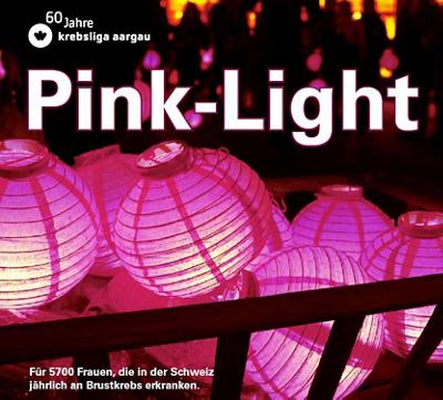 Nahaufnahme rosafarbene Lampions