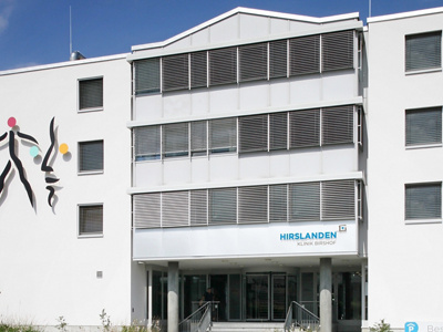 Hirslanden Klinik Birshof Eingang aussen