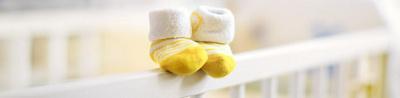 Yellow socks of a child