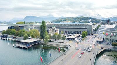 St. Anna im Bahnhof Ansicht Luftaufnahme
