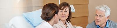 Gespräch im Patientenzimmer