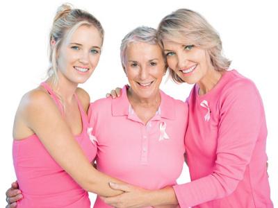 Frauen mit Pink Ribbon