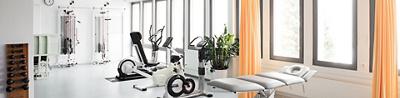 Die Räumlichkeiten der Physiotherapie in der Klinik Am Rosenberg