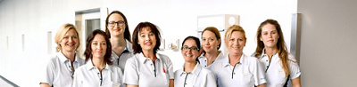 Team der Geburtenabteilung Klinik Hirslanden