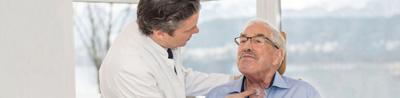 Kopf-Hals-Chirurgie Patient und Arzt
